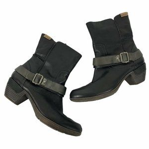 """Pikolinos 39 Ankle Boots Buckle Accents 2"""" Heels"""